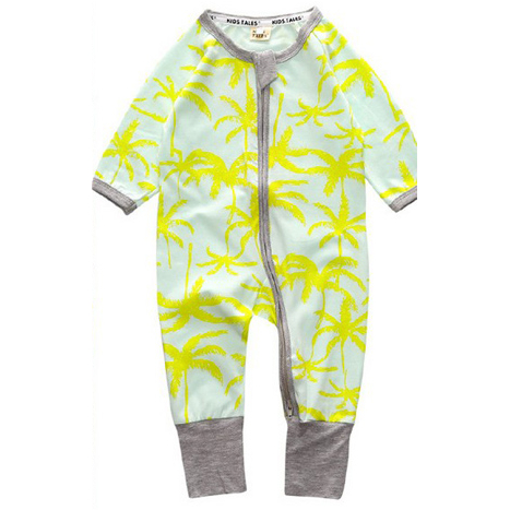 Dropship Baju Baby Jumpsuit 32 Yellow Coconut Tree Baby Shop